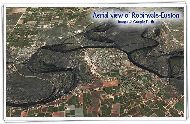 Aerial view of Robinvale Euston crops