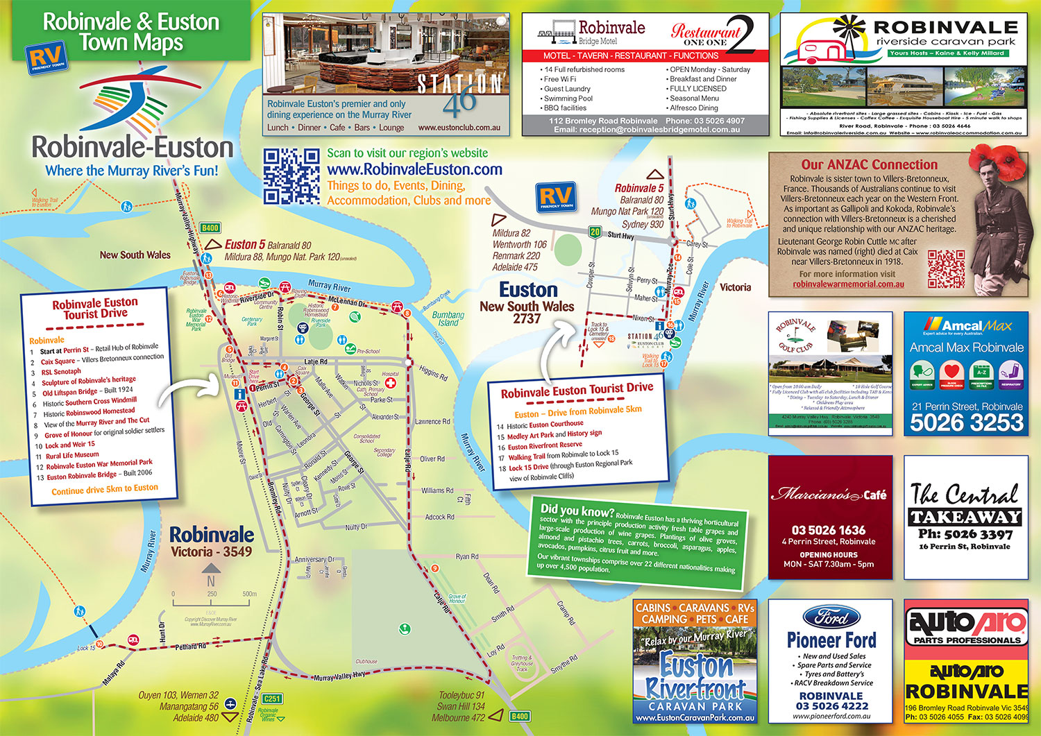 Robinvale Euston Town Drive Tourist map
