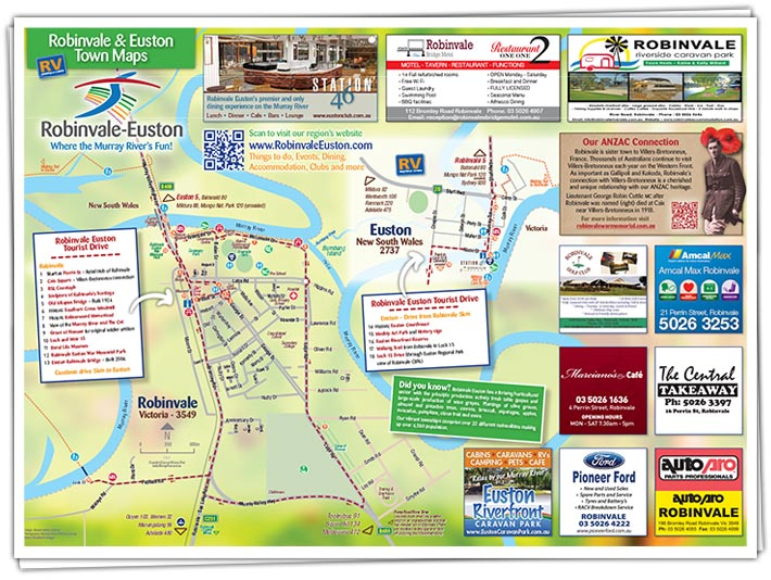 Robinvale Euston Town Map